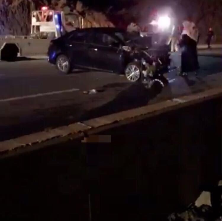 مصرع شخص وإصابة أربعة في حادث مروري بالباحة