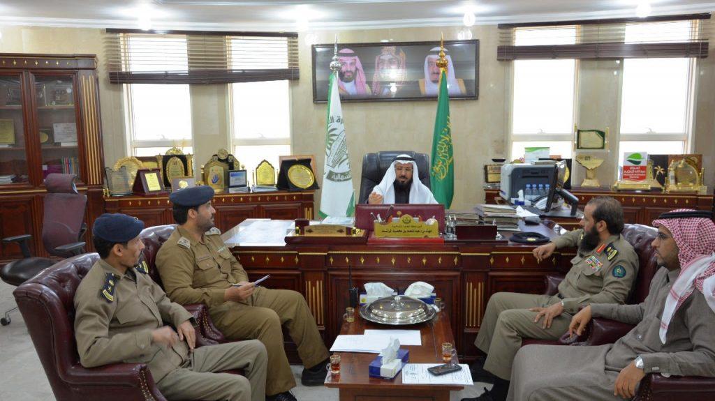 أمين منطقة الحدود الشمالية يستقبل مدير الدفاع المدني
