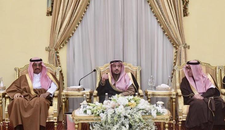 أبناء الشيخ صالح السلمان يحتفون بأمير القصيم