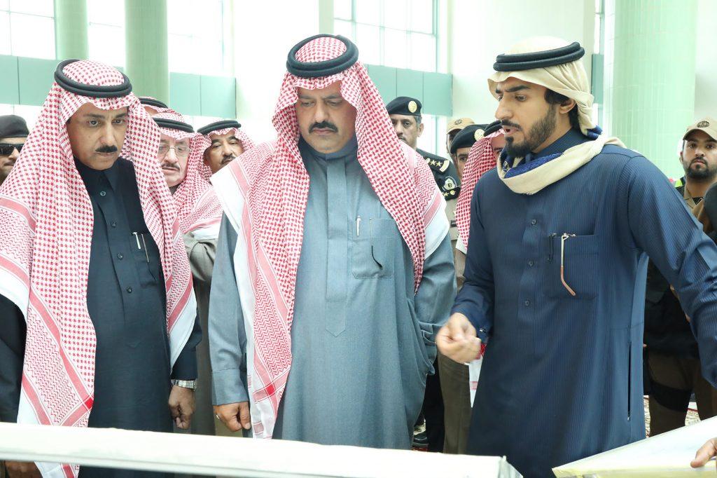 الأمير عبدالعزيز بن سعد يتفقد مشاريع المدينة الجامعية لجامعة حائل
