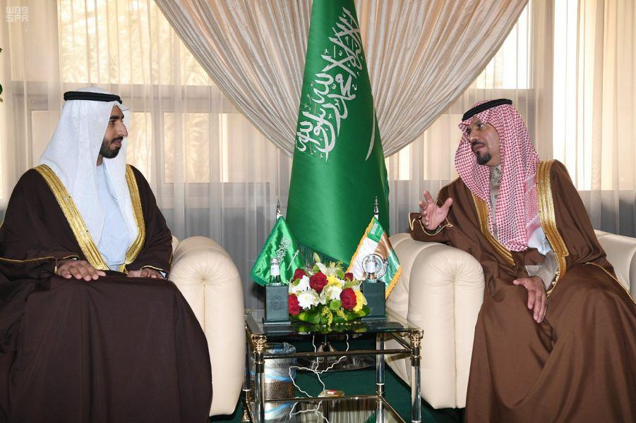 وزير الحرس الوطني يستقبل السفير الإماراتي لدى المملكة