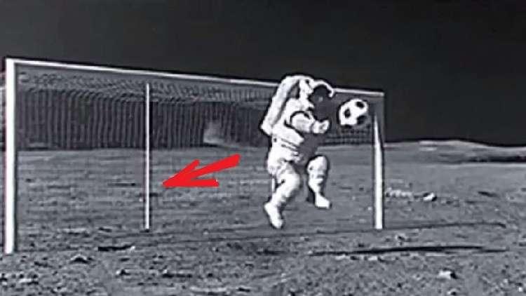 فيديو من عالم آخر.. تسجيل هدف على سطح القمر!
