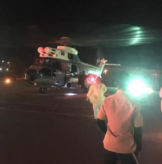 طيران الإخلاء الطبي ينقل شاب من مستشفى فرسان إلى مستشفى الملك فهد