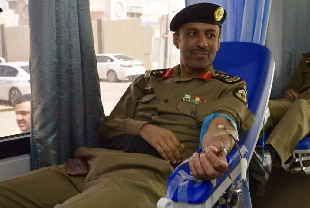 شرطة القصيم تقيم حملة التبرع بالدم لمنسوبيها