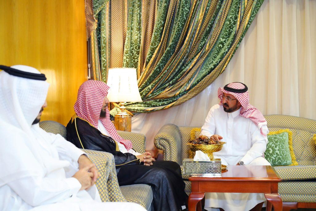 وكيل إمارة الجوف استقبل معالي الشيخ سعد الشثري
