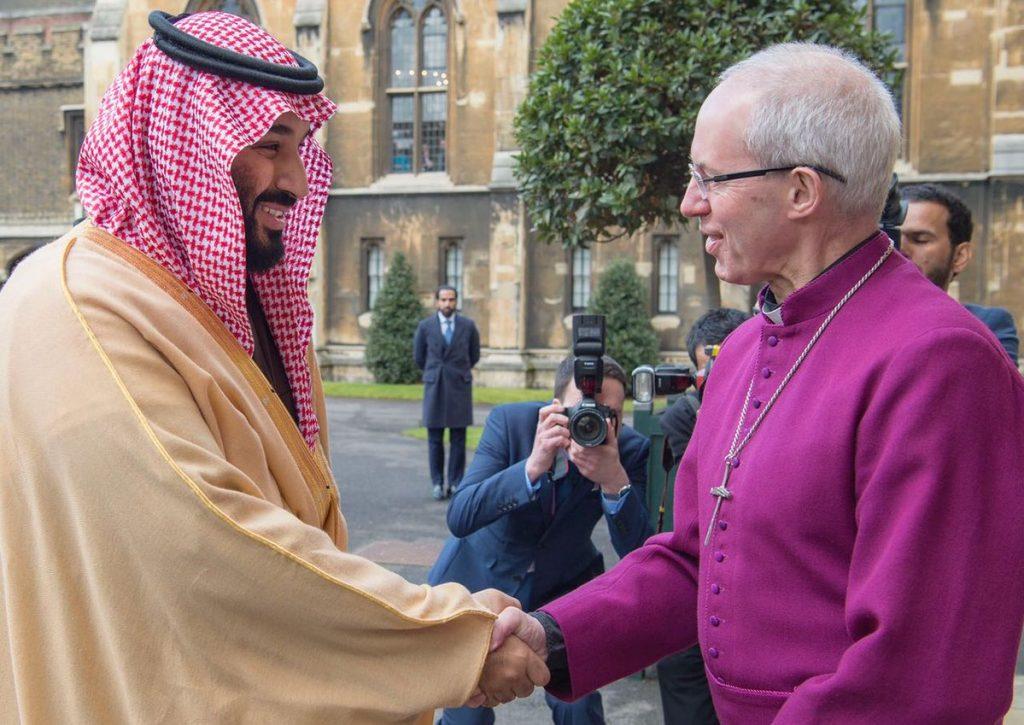 ولي العهد يلتقي رئيس الأساقفة في لندن