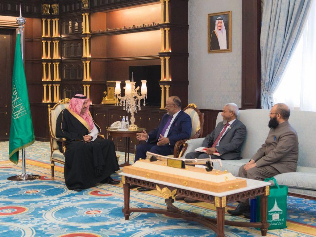 أمير منطقة الباحة يستقبل السفير البنغلاديشي لدى المملكة