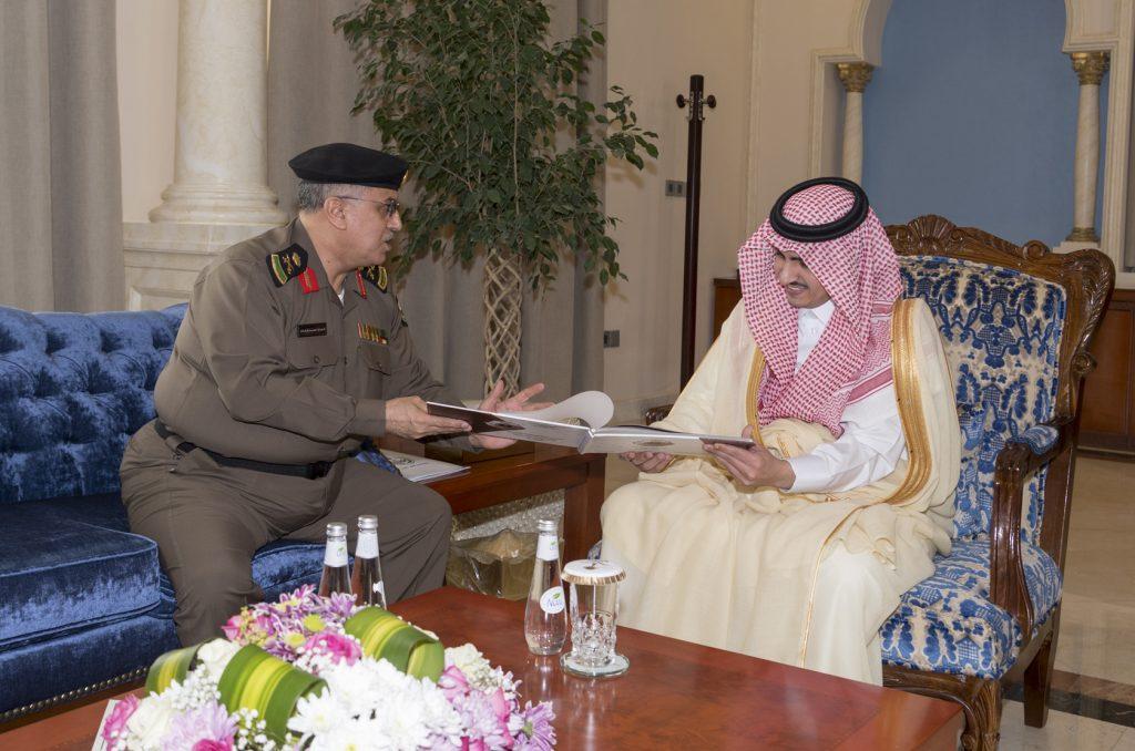 أمير الجوف استقبل مدير شرطة المنطقة