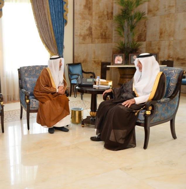 أمير منطقة مكة المكرمة يستقبل رئيس جامعة أم القرى المعين حديثاً