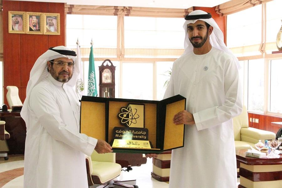 سفير الإمارات لدى المملكة يزور المدينة الجامعية بالجوف