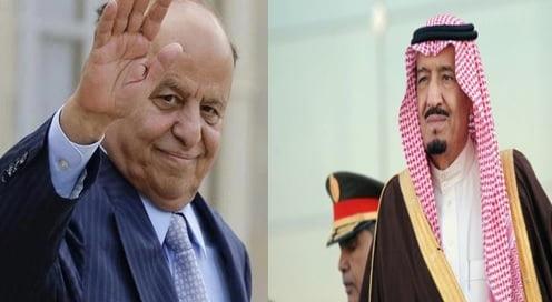 خادم الحرمين الشريفين يتلقى اتصالاً هاتفيًا من الرئيس اليمني للتهنئة بحلول شهر رمضان المبارك