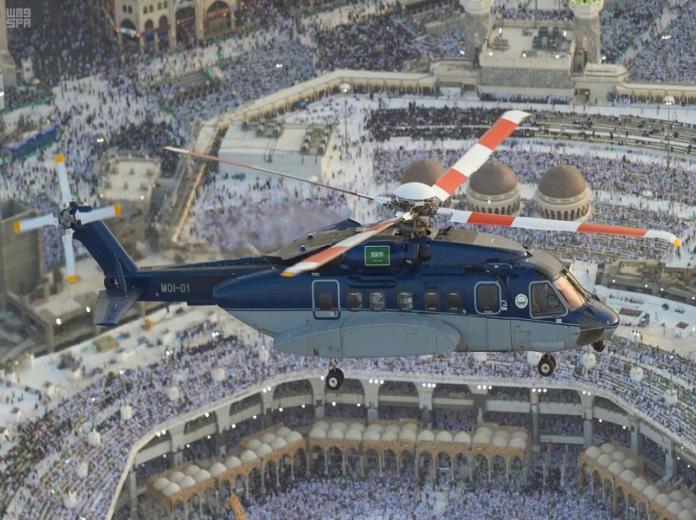طيران الأمن يبدأ طلعاته الجوية في سماء العاصمة المقدسة