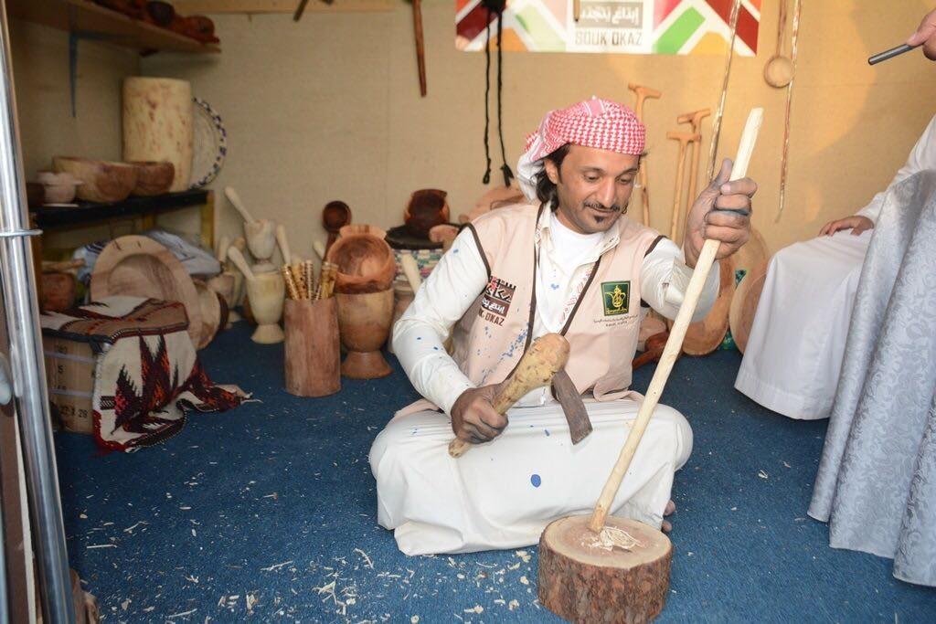حرفي من منطقة الباحة ضمن حرفيين المملكة المهرة