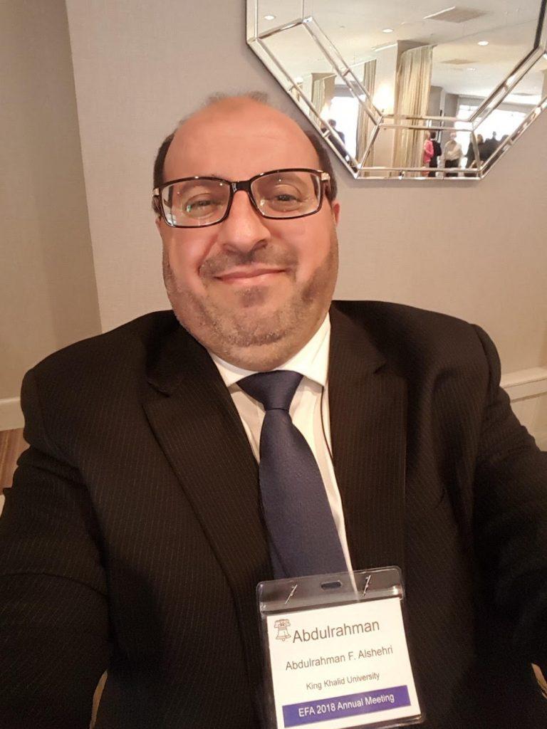 د. الشهري عضو باللجنة العلمية لمؤتمر جمعية  التمويل لشرق الولايات المتحدة