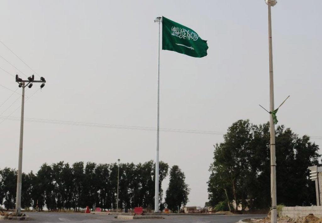 مركز قوز الجعافرة يحتضن أعلى سارية علم بمحافظة صبيا
