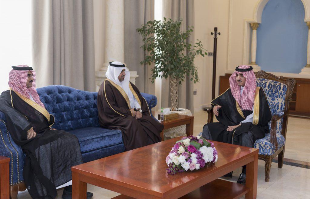 بدر بن سلطان استقبل الدكتور الغامدي بمناسبة تكليفه مديراً لتعليم الجوف