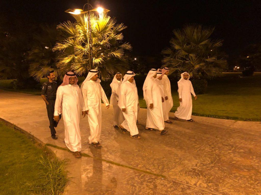 أمين نجران ومدير عام السياحة يتفقدان منتزه الملك فهد ويقفان على ساحات قصر الإمارة التاريخي