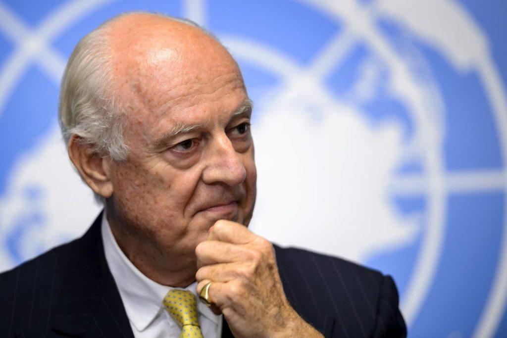 """ دي ميستورا"" يجري مشاورات مع إيران وروسيا وتركيا لصياغة دستور سوري جديد"