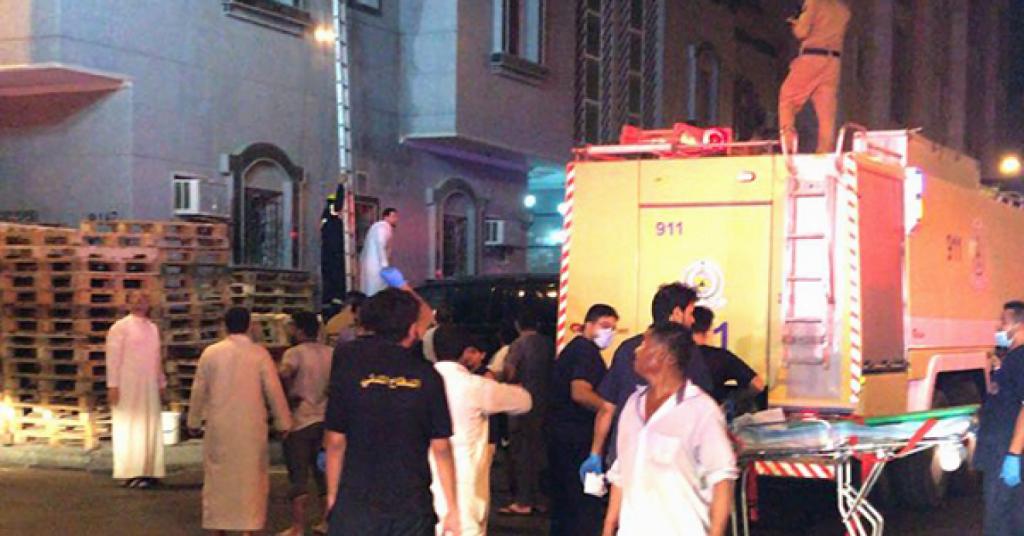 إصابة 13 شخصًا في حريق شقة بجدة