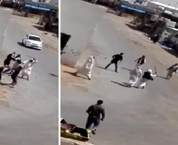 بالفيديو.. مضاربة جماعية بين رعاة سودانيين وعمالة بنغالية بالرياض!