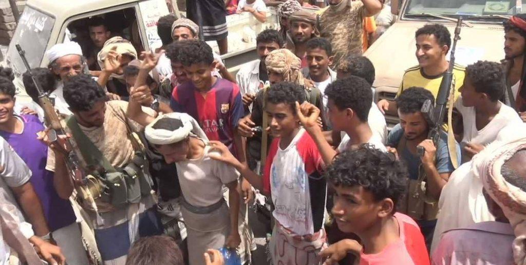 التحيتا اليمنية تحتفل بالتحرير من براثن الحوثي