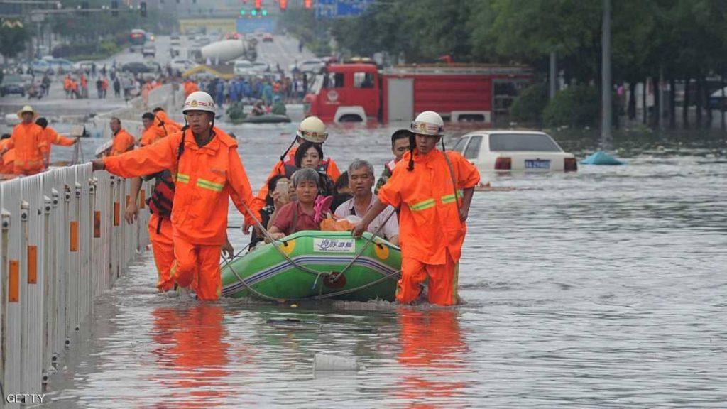 الصين.. دمار واسع وفرار آلاف السكان بسبب الفيضانات