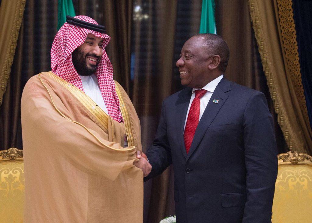 ولي العهد يلتقي رئيس جمهورية جنوب أفريقيا
