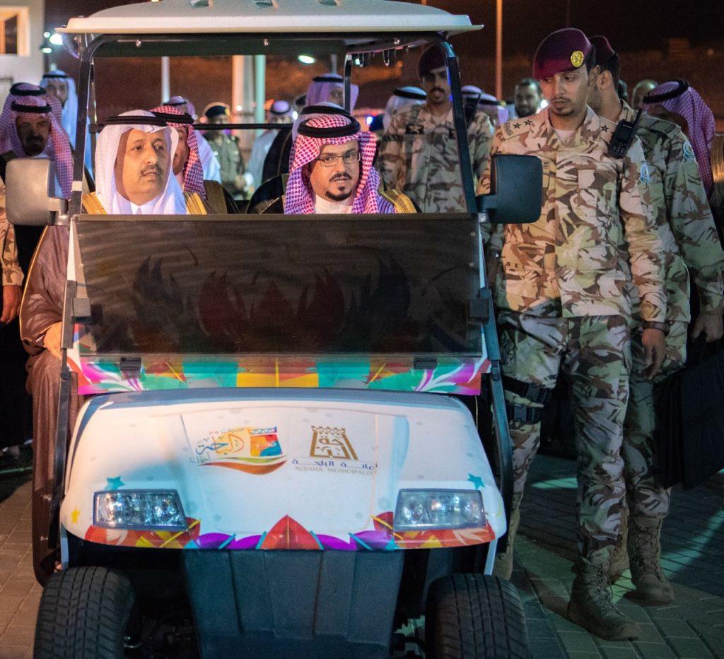 أمير الباحة يفتتح مشروع حديقة الشمال ببني سار