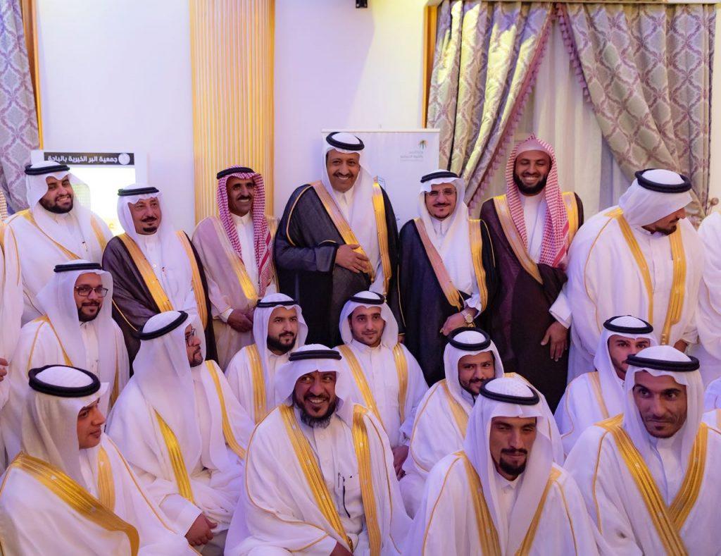 أمير الباحة يزف 400 شاباً وفتاة في حفل الزواج الجماعي