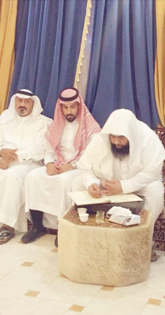 الشيخ ضيف الله الدراج يحتفل بعقد قران نجله فهد