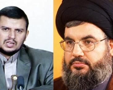 """""""حزب الله"""" الإرهابي ينعي مصرع اثنين من قادة الحوثيين البارزين"""