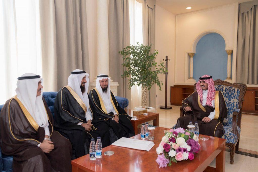 أمير الجوف يستقبل نائب رئيس ديوان المراقبة العامة لشؤون الفروع