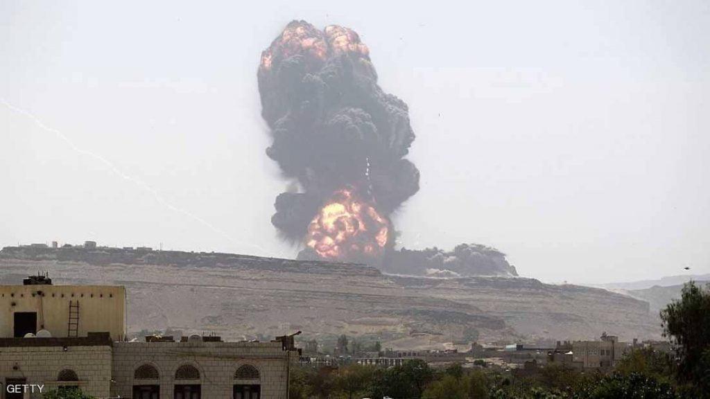 غارات للتحالف تستهدف مواقع عسكرية بصنعاء