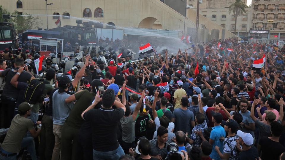تجدد التظاهرات ببغداد رغم انتهاء الفرز اليدوي