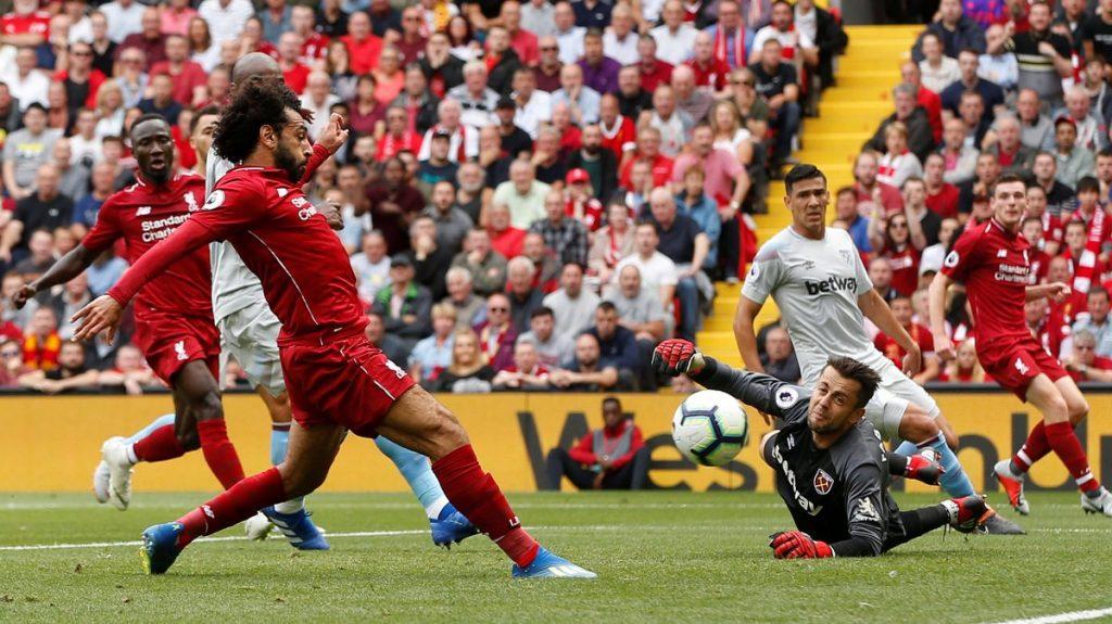ليفربول يفتتح مشواره في الدوري الإنجليزي باكتساح ويستهام يونايتد