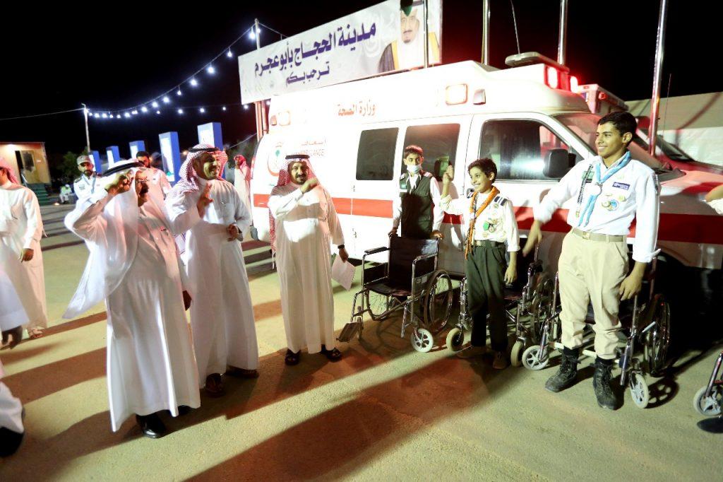 10 فنيين و سيارتي إسعاف لخدمة الحجاج بمركز ابو عجرم الجوف