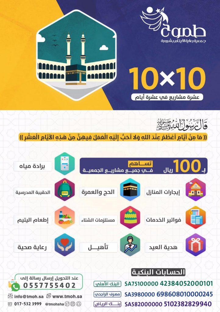 طموح شرورة تطلق مبادرة ١٠في ١٠ لدعم مشاريعها