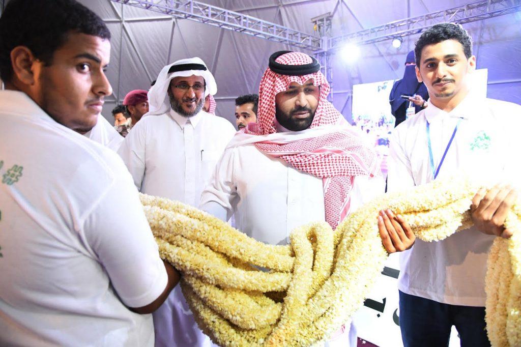 أمير جازان بالنيابة يرعى افتتاح مهرجان الفُل والنباتات العطرية الأول