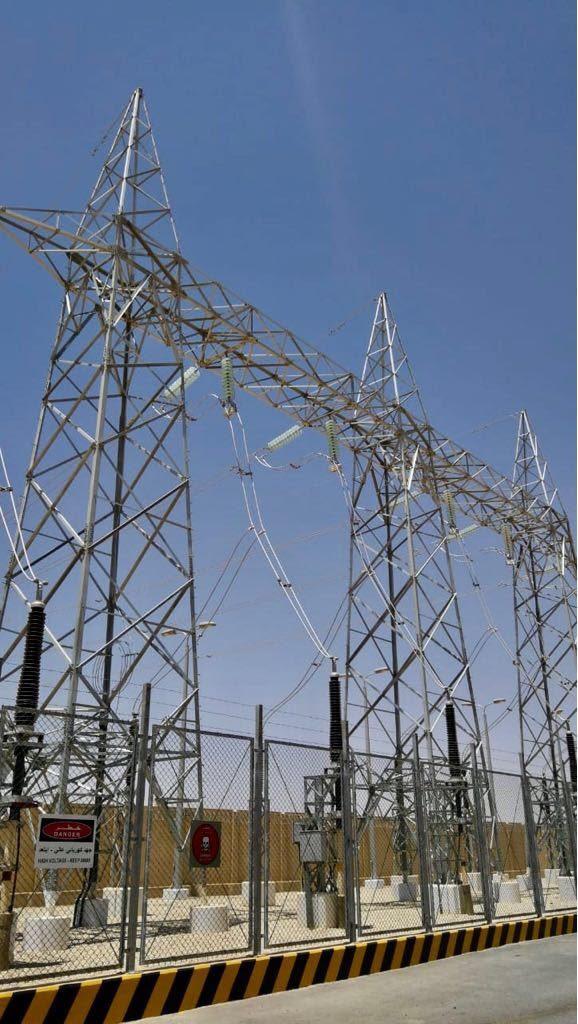 """""""السعودية للكهرباء"""": تشغيل 7 محطات تحويل لربط شمال المملكة بشبكة الكهرباء الرئيسية"""
