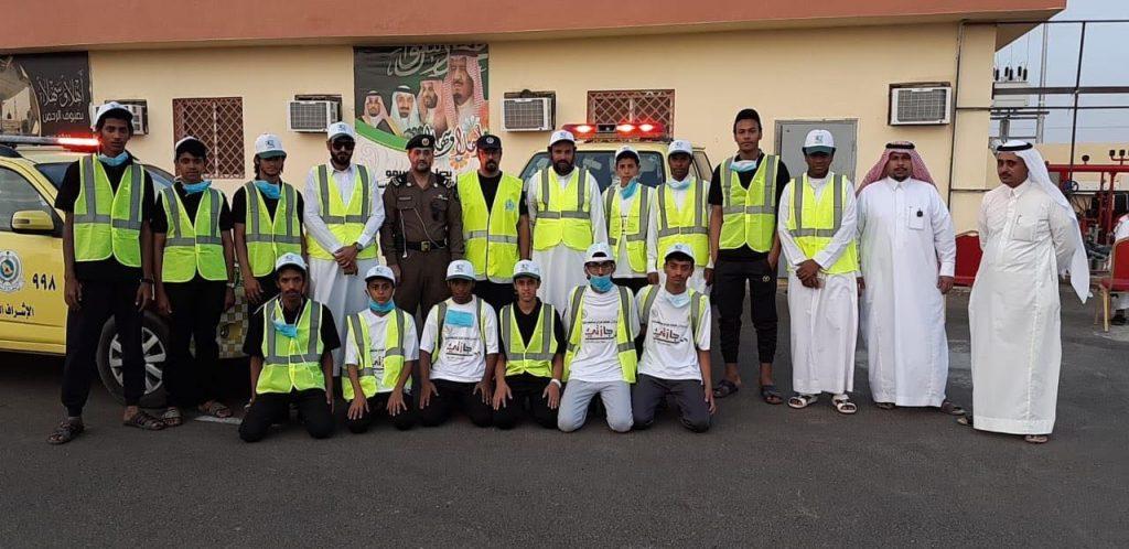 نادي الحي بشرورة يشارك في إستقبال الحجاج بالوديعة