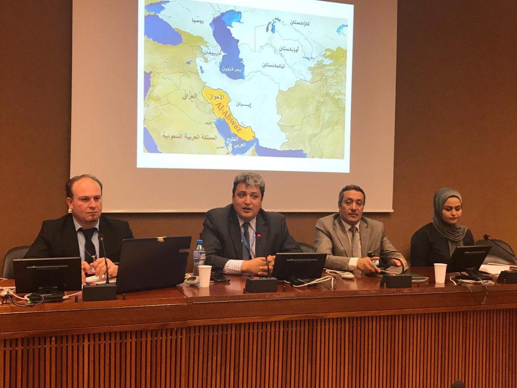 ندوة حقوقية أحوازية على هامش الدورة ال39 لمجلس حقوق الإنسان في جنيف