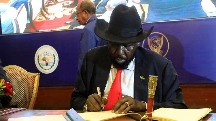 رئيس جنوب السودان يوقع اتفاق سلام مع المتمردين