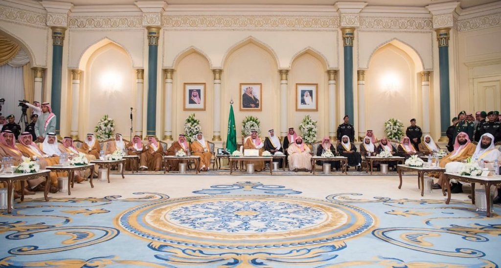 خادم الحرمين الشريفين يشرف حفل استقبال أهالي منطقة المدينة المنورة ويدشن عدداً من المشروعات في المنطقة