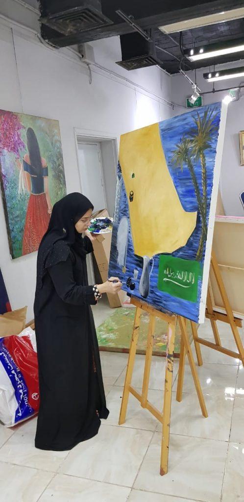 معرض للفنون البصرية والتشكيلية احتفاءً باليوم الوطني 88