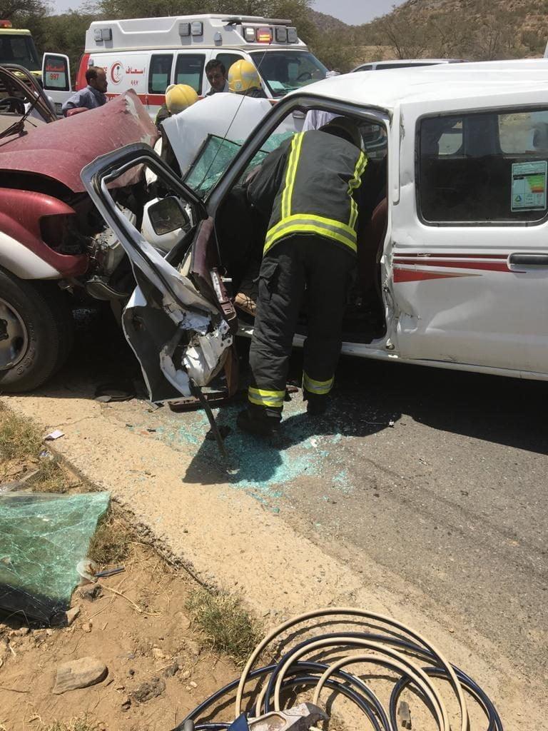وفاة وسبع إصابات في حادث مروري ببلجرشي