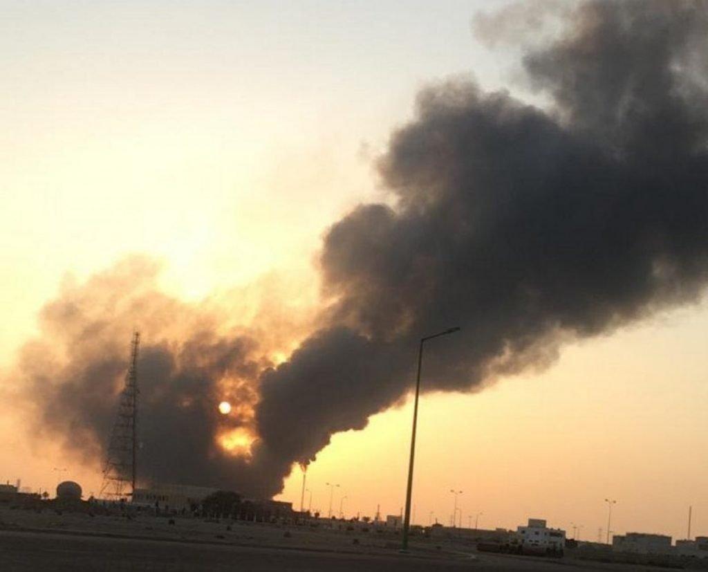 حريق في مصنع الشركة الوطنية للصناعات البتروكيماوية ناتبت NATPET بينبع