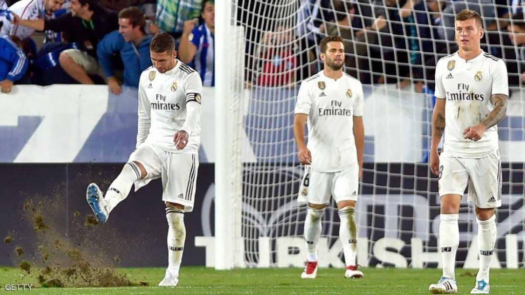 """ريال مدريد يتلقى هزيمة جديدة وصيام """"مقلق"""" عن التهديف"""