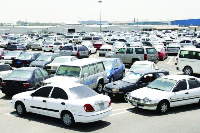 شرطة_حائل تعتزم بيع عدد من السيارات المحجوز لديها