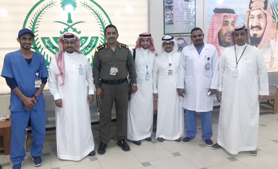 الهيئة السعودية لاعتماد المنشآت الصحية تقوم بزيارة العيادات الشاملة لقوى الأمن بالخرج