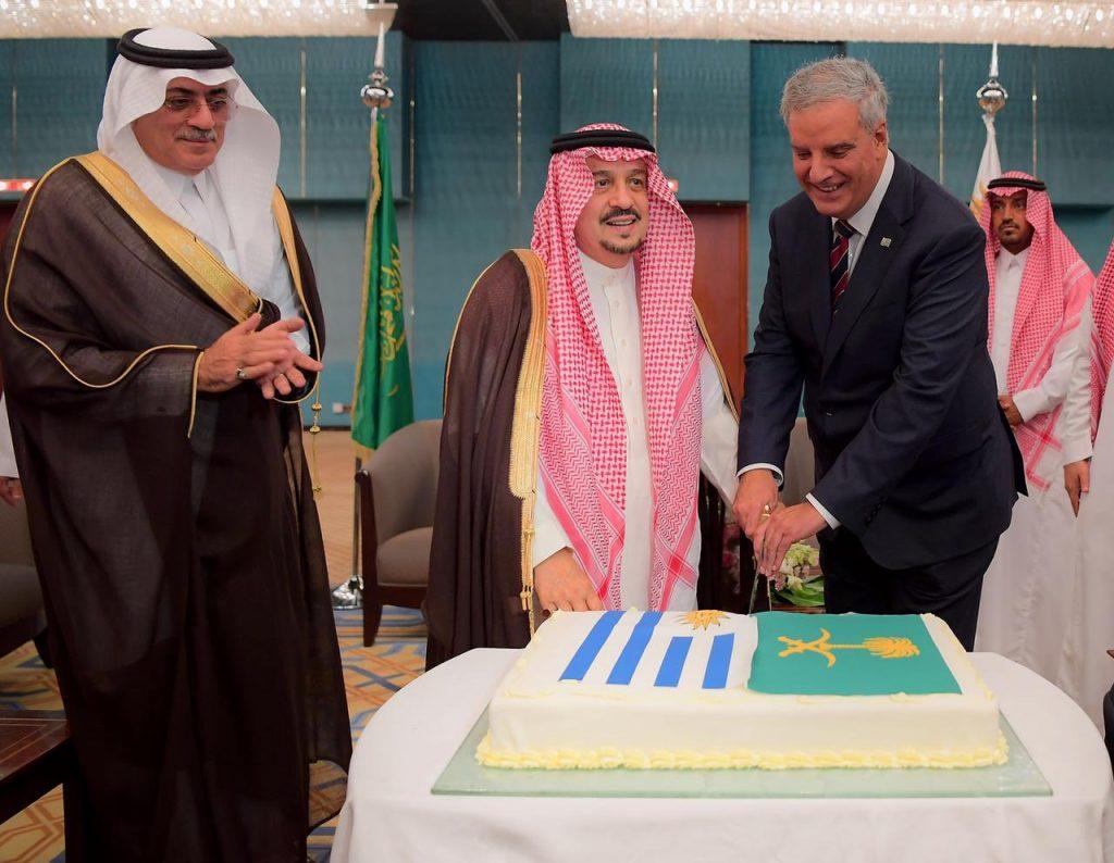أمير الرياض يشرف حفل سفارة الأورغواي